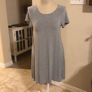Gray knit midi dress